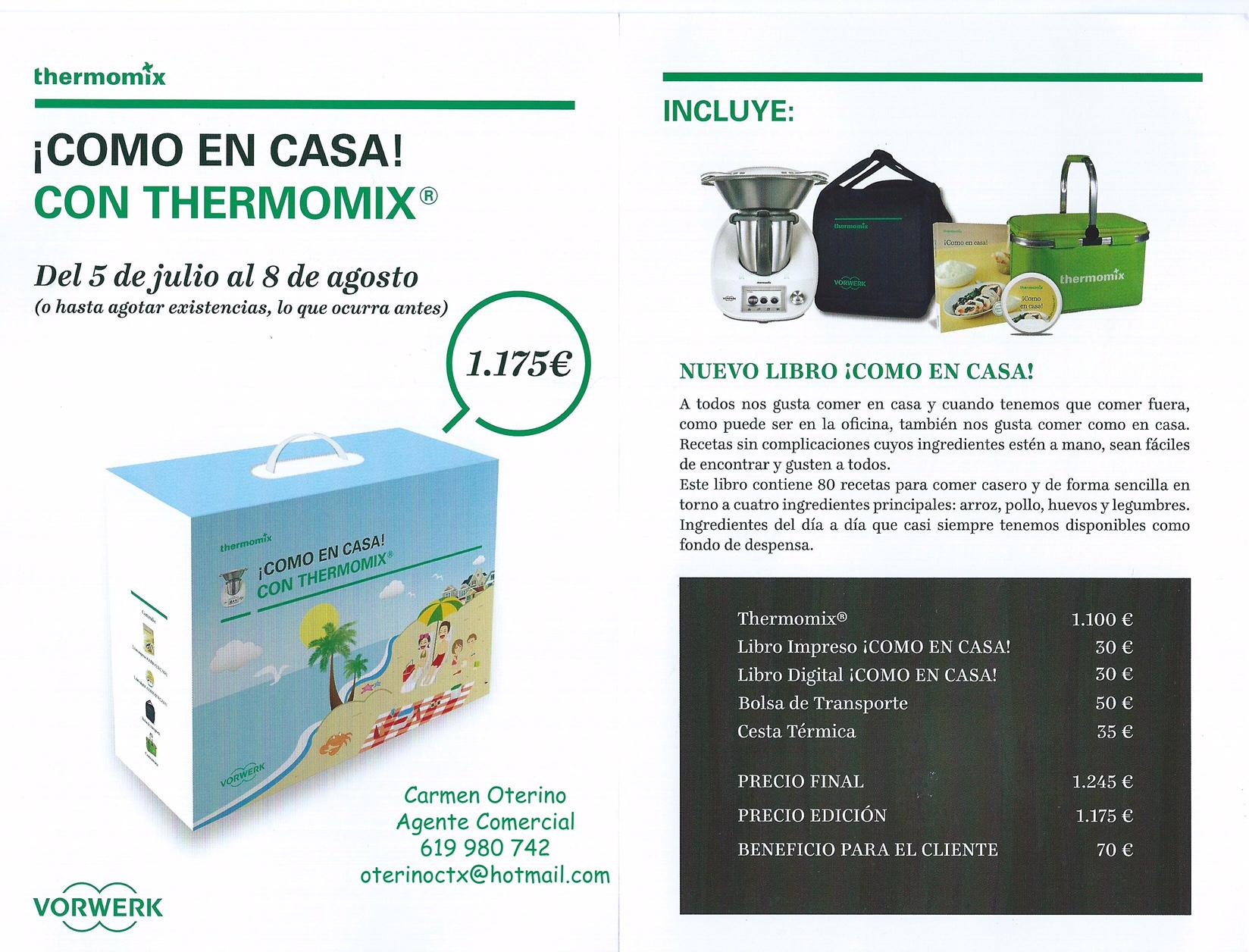 Thermomix® ¡¡¡COMO EN CASA!!!
